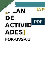For-uvs-01 Plan de Actividades v2 2015-09-23 - Final