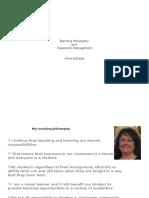 a estrada classroom management and philosophy