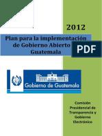 Plan de Gobierno Abierto en Guatemala