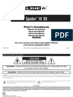 Spider IV 30 Pilot's Guide - English ( Rev G )