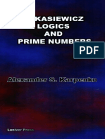 Logics and Prime Numbers -Luniver Press (2006)