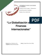 la globalizacion en las finanzas internacionales