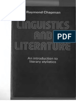 Raymond Chapman Linguistics and Literature