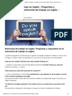 Entrevista de Trabajo en Inglés – Preguntas y Respuestas