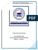 METODOLOGIA DE ESTUDIO - Lic en nutricion