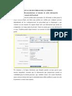 Manual digital sobre normas de seguridad en el facebook