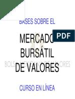 Bases Sobre El Mercado de Valores (Material de Apoyo)
