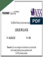 mbsimp training  certificate leslie bullock