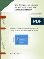 Puntos a Poligonos ArcGis 10.1. Mediante