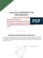 5-ANALISIS Velocid de MECANISMOS Metodo Proy Ortogonales