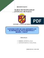 Perfil Tecnico - Losa Deportiva