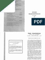 Revue Études Traditionnelles 1984