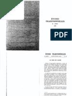 Revue Études Traditionnelles 1979