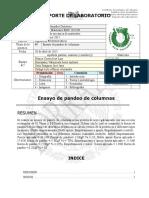 Reporte de Practica #5 - Ensayo de Pandeo de Columnas