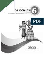 Guia Del Docente Sociales 6to Egb