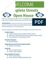April 21 Complete Streets Open House