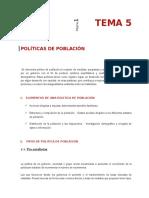 Politicas de Poblacion