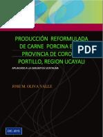 Produccion Reformulada de Carne Porcina en La Provincia de Coronel Portillo, Region Ucayali