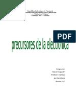 Precursores de La Electronica