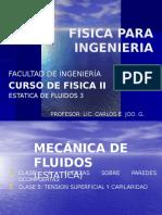 MECANICA de FLUIDOS 3 - Variacion de La Presion Tension Superficial y Capilaridad