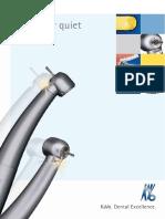 KaVo 8000b 8000c high speed handpieces brochure
