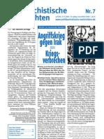 antifaschistische nachrichten 2003 #07