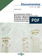 Considerações Sobre o Bioetanol Celulósico