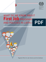What do we know about First Job programmes and policies in Latin America?