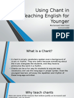 Using Chant in Teaching English for Younger.pptx