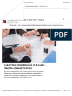 Questões Comentadas - Direito Administrativo