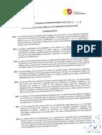 Acuerdo Interministerial 005 14 Bares Escolares
