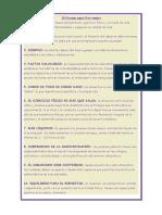 10 Consejos Para Vivir Mejor