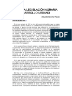 La Nueva Legislacion Agraria y El Desarrollo Urbano