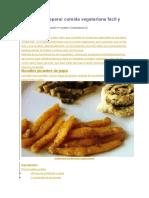Aprende a Preparar Comida Vegetariana Fácil y Deliciosa
