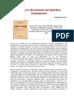 Karlovich - Un Nuevo Diccionario de Quichua Santiagueño