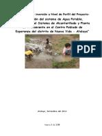 Perfil Saneamiento Modelo