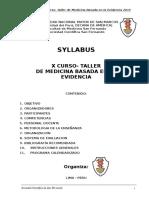 Syllabus x Curso Mbe 2015