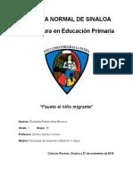 Analisis de Fausto El Niño Migrante