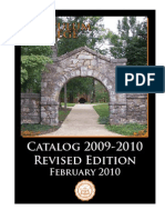 Tusculum College Catalog 2009-2010 (Revised)