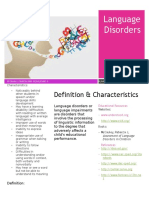 language disorder fact sheet