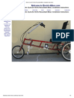 Electro Cycle E-4 Kit for Recumbent Bikes_ Installation Instructions