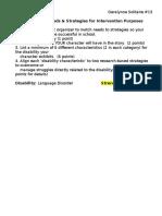 language disorder matrix
