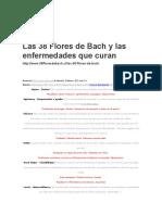 Las 38 Flores de Bach y Las Enfermedades Que Curan