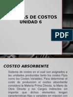 Unidad 6 Sistemas de Costos