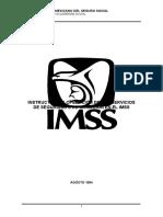 Instructivo para la operacion de la seguridad en el IMSS