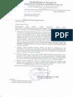 Surat Dirjen Pendis Tentang Penjelasan TPG Bukan PNS (Inpassing)