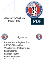 Glenview AYSO Parent Meeting-U5 Spring 2016