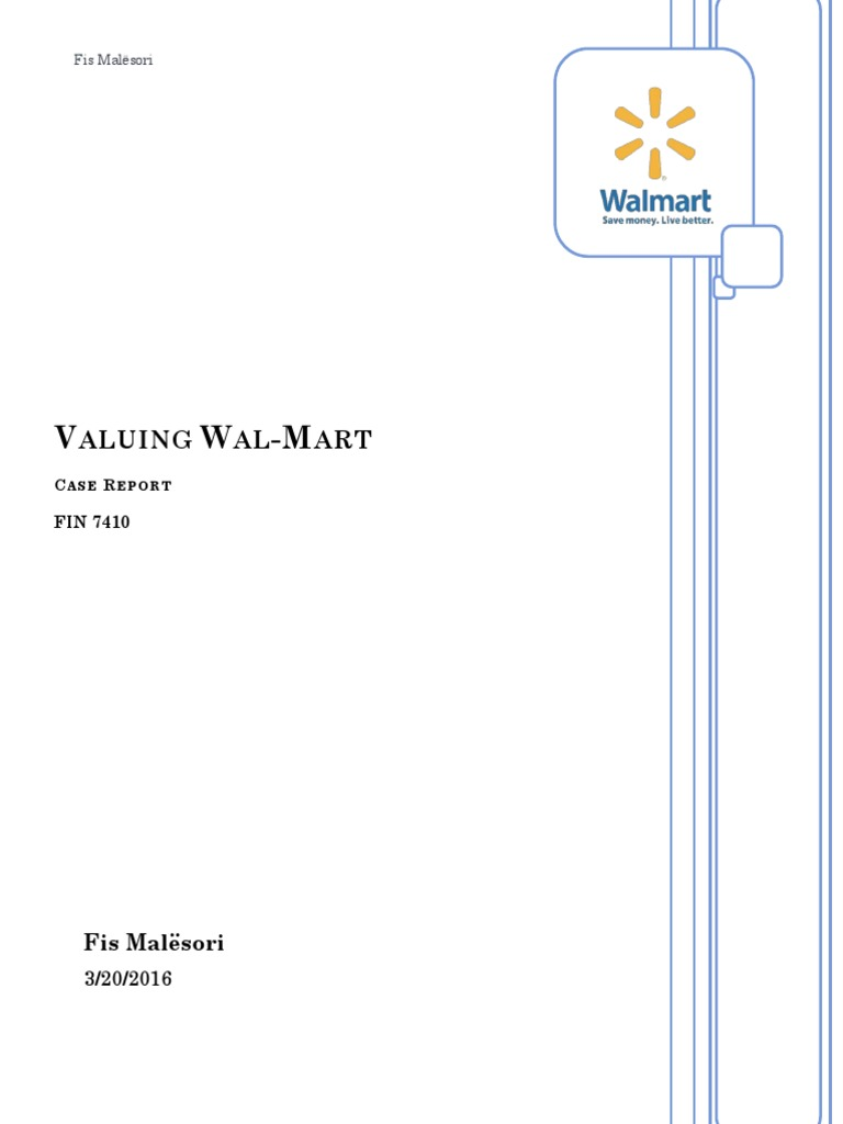 wal mart case study analysis papers