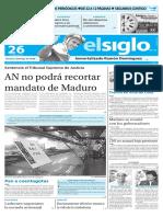 Edicion Impresa El Siglo 26-04-2016