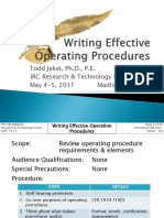 Writing Effective Operative Procedures